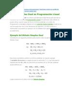 Metodo Simplex Dual