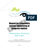 Manual monitoring Community of seagrass