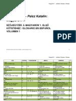 Magyar Spanyol szójegyzék