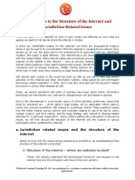 1.2. Introduction to the Structure of the Internet and Jurisdiction Related Issues