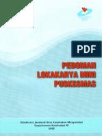 Pedoman Lokakarya Mini Puskesmas