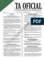Gaceta 41021 Reforma Reglamento SEBIN