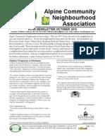 ACNA October 2010 Newsletter