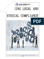 A Study on How to Manage Legal and Ethical Compliance