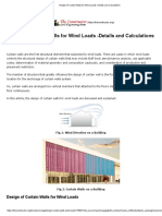 Design of Curtain Walls for Wind Loads -Details and Calculations