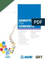 Brochure Admixtures for Concrete En