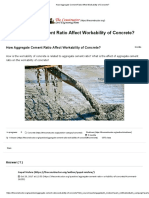 How Aggregate Cement Ratio Affect Workability of Concrete