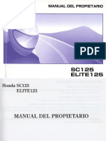 Manual de Usuario Honda Elite 125