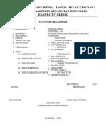 Struktur Organisasi Posyandu Lansia