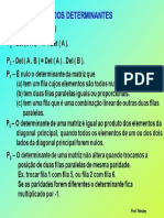 Propriedades Dos Determinantes - Resumo