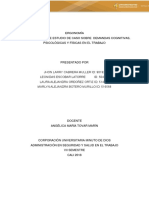 Actividad 9 Informe Estudio de Caso Sobre Demandas Cognitivas, Psicológicas y Físicas en El Trabajo