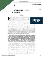 La Jornada_ La izquierda en el límite