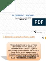 Clase 3 de Derecho Laboral El Despido Laboral