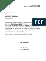 Carta Solicitud Medica