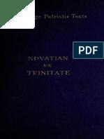 Novatiani Romanae urbis presbyteri De Trinitate liber (1909)