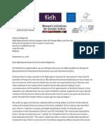 Joint Letter to High Representative Vice-President Mogherini_10Sept2018