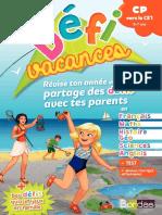 Défi Vacances CP Vers CE1