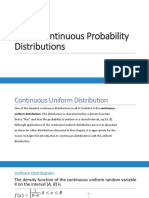 Some Continuous Probability 0
