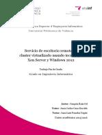 Servicio de Escritorio Remoto en Cluster Virtualizado Xen Server