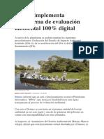 Senace Implementa Plataforma de Evaluación Ambiental 100