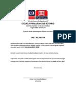 CERTIFICACION Rubianny Bellamyr Mariñez Bautista