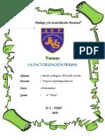 factorizacion prisma