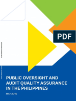 REVISED PUBLIC Philippines Strengthening Oversight Improving the Quality of Statutory Audits in the Philippines With Cover and Ack No Track