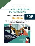 Journées du patrimoine dans le Bas-Rhin 2018