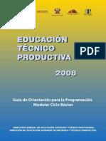 Educación Técnico Productiva 2008