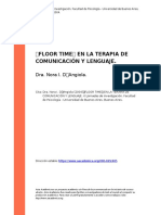 "Dra. Nora I. D'Angiola (2004). ""FLOOR TIME"" EN LA TERAPIA DE COMUNICACION Y LENGUAJE"
