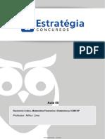 Raciocínio Crítico, Matemática Financeira e Estatística Aula 00