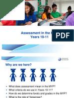 Assessment MYP 10-11 2010