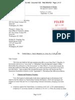 D.C. Letter on Paul Manafort - 14.09.2018