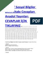 2018 2019 5. Sınıf Sosyal Bilgiler Ders Kitabı Cevapları Anadol Yayınları