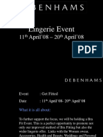 Lingerie Event- Mktng Final Ppt