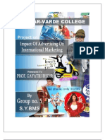 final Copy of International Marketing  project on ADVERTISING