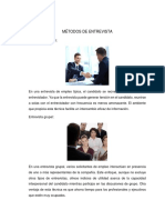 metodos de entrevista y seleccion de personal