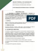 Edital Seleção Doutorado 2018-2019