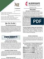 Bulletin Supplement September 16 2018