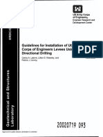 GSL TR-02-09 Guideline for Installation of Utilities Beneath Corps of Engineers Levees Using Horizontal Directional Drilling