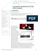 Ferretbrain - A Successful Audition for the Darwin Award