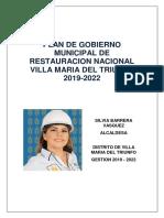 Plan de Gobierno Silvia Barrera Vasquez