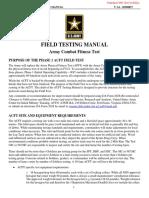 Field Testing Manual