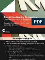 Transit Line Naming