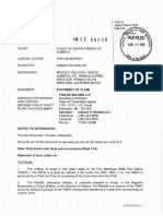 STATEMENT of CLAIM-- FILED COPY - Samantha Whalen v. Bradley Callihoo%2c Filed Aug. 23-2018 (E7875775)