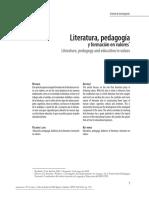 Cardenas, Páez. Literatura Pedagogia Y Formacion en Valores