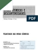 Ondas Sismicas e Descontinuidades