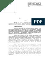 Resolucion Aprobando Cuadro de Merito 2011