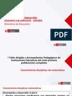 Acompañamiento Pedagogico en Matematica en El CNEB Ccesa007