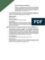 Especificaciones Canal Pluvial